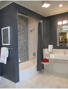 Ceramic Bath With Glass Backsplash And Marble Floor Blue Paint White My Favorite Gray Paint And All Paint Colors Throughout My House Traditional Bathroom By Minneapolis Interior Designers Decorators For Bathroom Wall Tile And Paint Colors Neutrals Tan And Gray