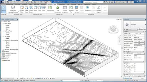 revit tutorials import 3d site topo surface from sketchup youtube
