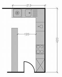 plan de cuisine en l 8 exemples pour optimiser l39espace With plan de travail maison 4 avant apras optimiser lespace dans un studio maison