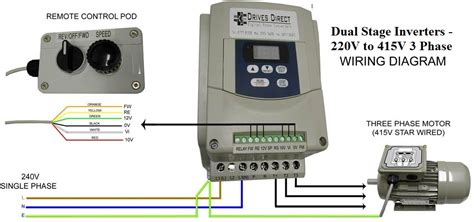 dual stage inverter     phase wiring