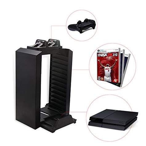 ps storage tower holder stand dual charger dock