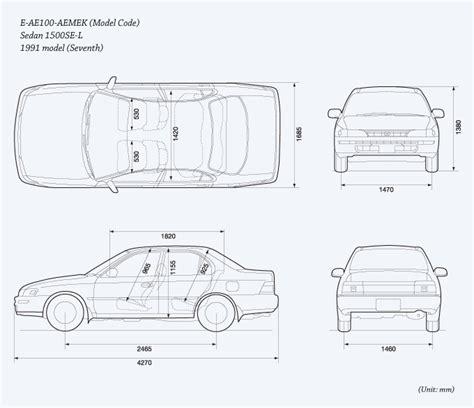 Toyota Corolla Dimensions by Toyota Corolla Interior Dimensions Psoriasisguru