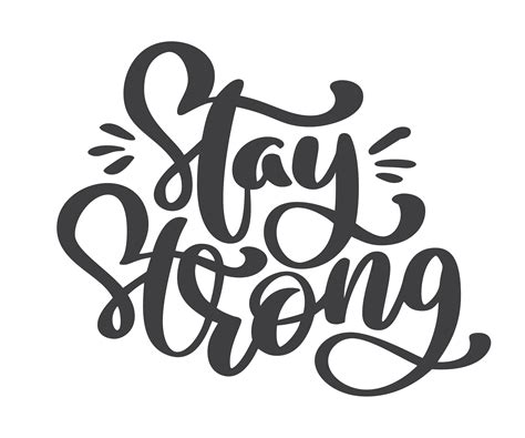 stay strong text vector hand drawn holiday lettering