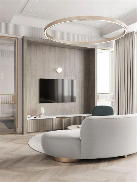 Quadro Room新作 莫斯科简约主义 in 2020 Small apartment interior Interior design apartment small Apartment interior design