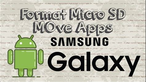 Android move apps to sd card. Format Micro SD and move apps to SD card on Samsung Galaxy Series Android - YouTube