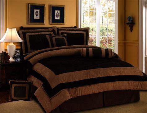 comforter brown queen bedding sets bed chocolate bag edredones king rust copper bedroom quilts fur orange suede pieces amber short