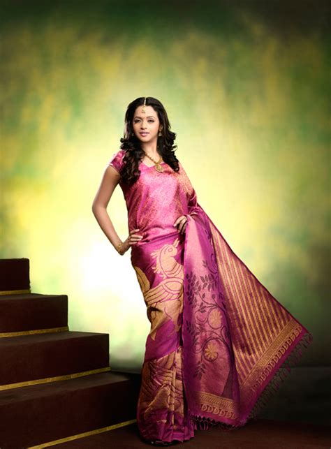 Actress Bhavana In Silk Saree At Photo Collection