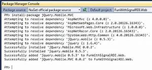 Using Jquery Mobile In An Asp Net Mvc 4 And Signalr