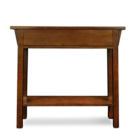 leick mission hall console table slate black leick mission console table hall stand russet