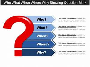 Who What When Where Why Showing Question Mark