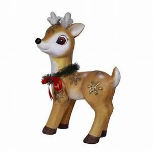 23, U0026quot, Christmas, Wreath, Reindeer, D, U00e9cor, With, Warm, White, Led, Lights