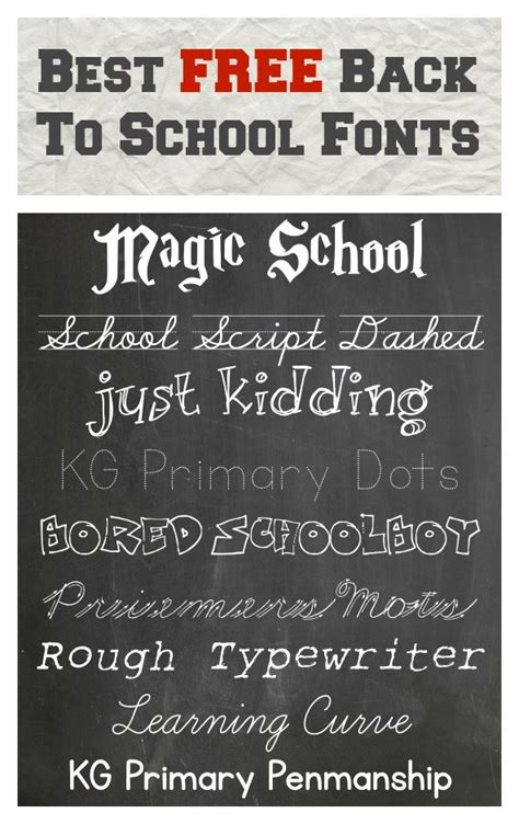 school fonts pinlaviecom