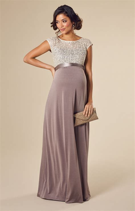 Mia Maternity Gown Dusky Truffle - Maternity Wedding Dresses Evening Wear and Party Clothes by ...