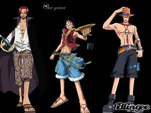 shanks Luffy Ace Picture #123875842 | Blingee.com