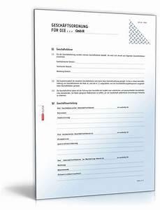 Kredit Für Gmbh Firma : gesch ftsordnung gmbh vorlage zum download ~ Kayakingforconservation.com Haus und Dekorationen