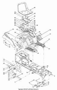 Troy Bilt 14az809h063 Gtx2446  2003  Parts Diagram For Deck Lift  U0026 Hanger Assembly    Seat  Fender