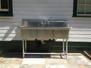 commercial kitchen sink faucet 3 compartment stainless steel commercial sink and faucet installation callaway plumbing and