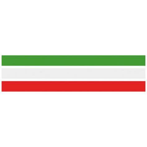 cornice tricolore fascia banda adesiva tricolore bandiera italia a strisce