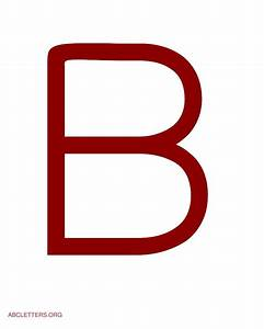 large abc letters red white abc letters org With white letter b