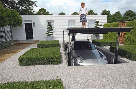underground parking house luxurious hydraulic underground garage parking freshome com