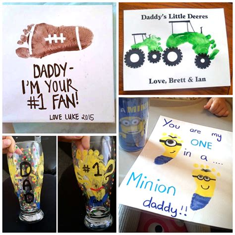 fathers day gift ideas father s day footprint gift ideas from the kids crafty morning