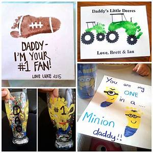 Father's Day Footprint Gift Ideas from the Kids - Crafty ...
