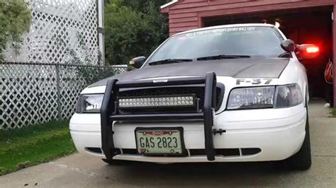 crown vic led light bar updated walk around ford crown vic p71 pov youtube