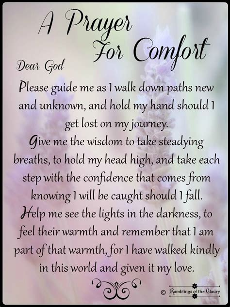 a prayer of comfort a prayer for comfort ramblings of the claury