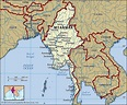 Myanmar On A Map | National Park Map