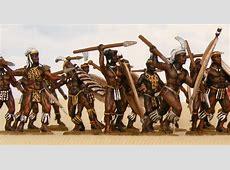 Miniature Soldiers Zulu warriors