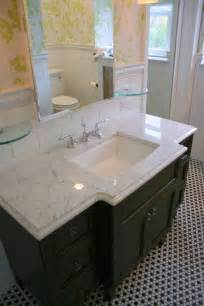 Bathroom Sink Tops Menards by The Countertop Is Carrara Marble The One Slightly