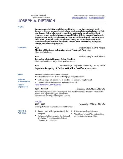 Downloading Resume Templates by Resume Templates Easyjob