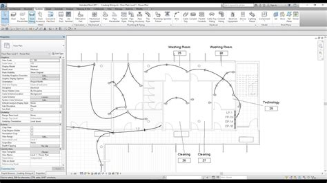 Electrical Plan Revit by Revit Mep Lesson 19 How To Create A Electrical Wiring