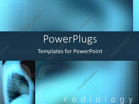 powerpoint template blue  ray  radiology text