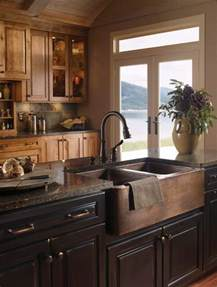 kitchen island with sink when and how to add a copper farmhouse sink to a kitchen