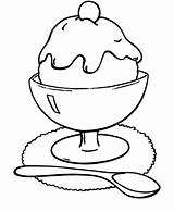 Ice Cream Coloring Sundae Pages Sandwich Chocolate Template Sheet sketch template