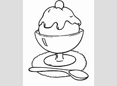 Ice Cream Free Colouring Pages