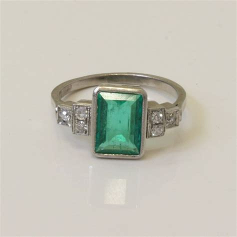 deco emerald and ring 17 best images about emerald engagement rings on antiques emerald and deco