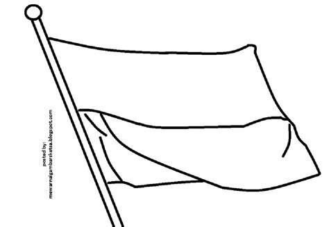 mewarnai gambar bendera indonesia