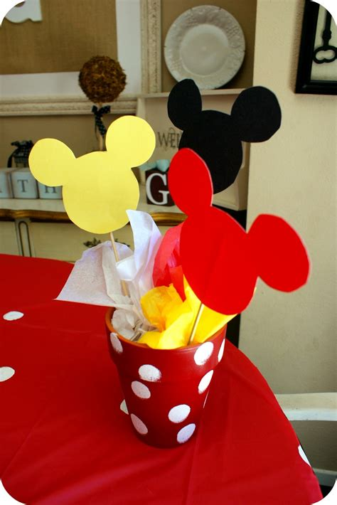 Mickey Mouse Decorations by I My Glue Gun Mickey Mouse Birthday