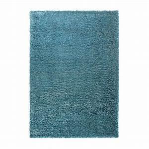 tapis cosy glamour shaggy bleu esprit home 80x150 With tapis shaggy bleu