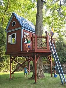 gemutliches bauhaus selber bauen kinder spielen With französischer balkon mit baumhaus kinder garten