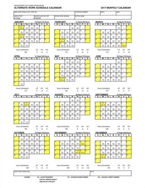 work calendar template 9 employee calendar templates free sles exles formats free premium templates