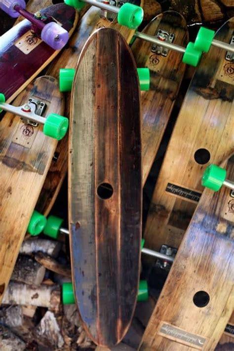 handmade skateboards  wine barrels  barrel board