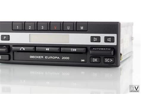 becker europa 2000 becker europa 2000 be1100 mercedes original autoradio w123