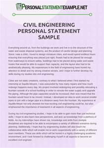 resume personal statement exles engineering sle personal statement resume