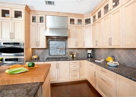 kitchen design interior maple kitchen with display cabinets so much nicer 1235