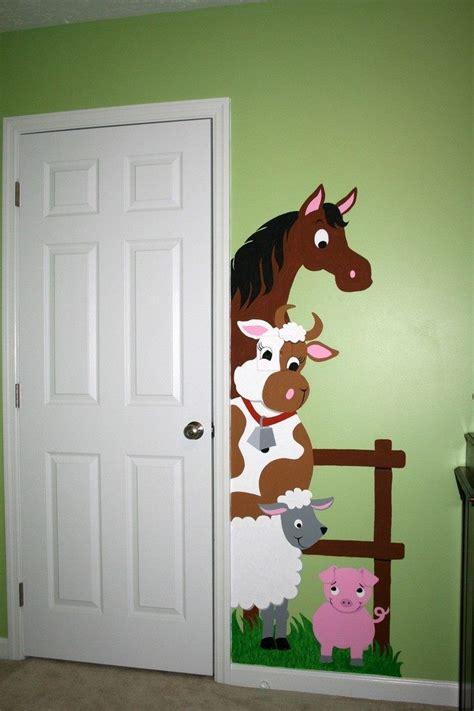 Kinderzimmer Wandgestaltung Pferde by Wandmalerei Pferd Kuh Schaf Und Schweinchen