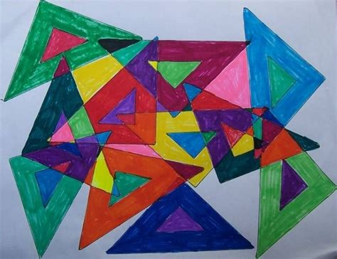 Abstract Shapes Overlapping by Wk 4 Abstract Give Each Student A Different Shape With