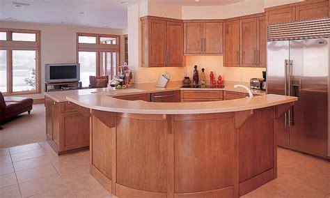 curved island kitchen designs curved kitchen island birch wood kitchen islands